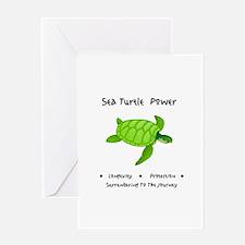 Sea Turtle Sacred Animal Totem Power Greeting Card