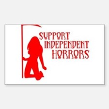 Support Independent Horrors Rectangle Decal