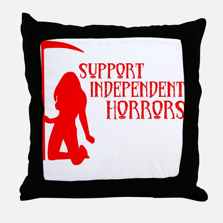 Support Independent Horrors Throw Pillow