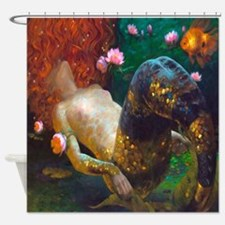 Red Haired Mermaid 2 Shower Curtain