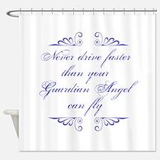Guardian Angel Humor Shower Curtain