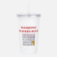 Mahjong Acrylic Double-Wall Tumbler