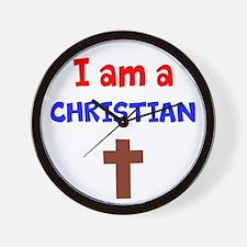 I Am A Christian Wall Clock