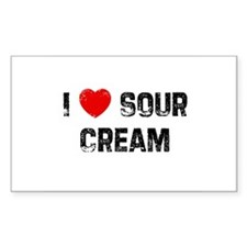 I * Sour Cream Rectangle Decal