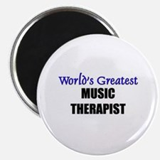 Worlds Greatest MUSIC THERAPIST Magnet