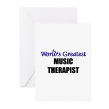 Worlds Greatest MUSIC THERAPIST Greeting Cards (Pk