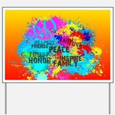 Bright Burst of Colorful Inspiration Yard Sign