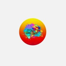 Bright Burst of Colorful Inspiration Mini Button