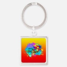 Bright Burst of Colorful Inspiration Keychains
