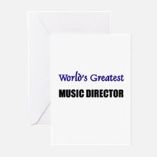 Worlds Greatest MUSIC DIRECTOR Greeting Cards (Pk