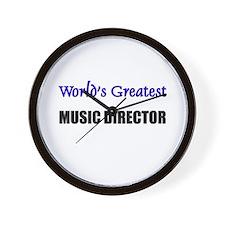 Worlds Greatest MUSIC DIRECTOR Wall Clock