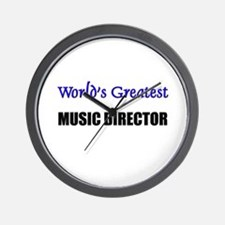 Worlds Greatest MUSIC DIRECTOR Wall Clock