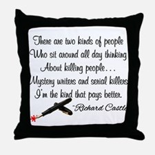 Mystery Writers Throw Pillow