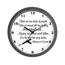 Mystery Writers Wall Clock