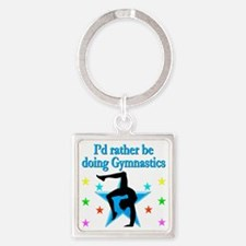 GYMNAST FOREVER Square Keychain