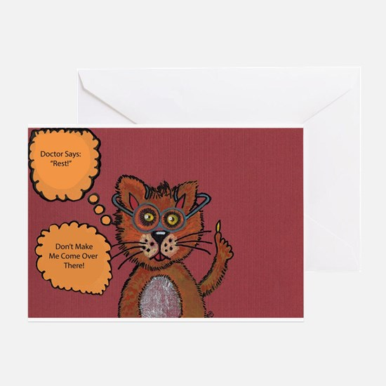 Don't Make Me Come Over There Greeting Card