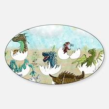Cute Dragon children Sticker (Oval)