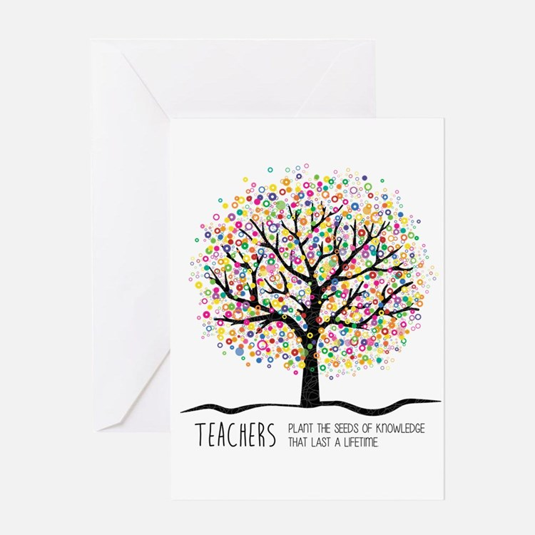 Teacher appreciation quote Greeting Cards