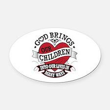 Adoption Tattoo Oval Car Magnet