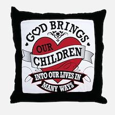 Adoption Tattoo Throw Pillow