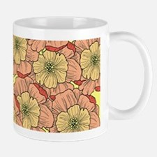 Many Flowers Coloured Mugs