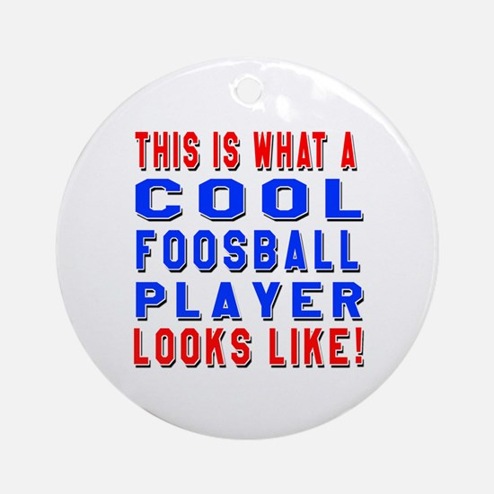 Foosball Player Looks Like Round Ornament