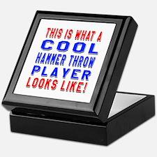 Hammer Throw Player Looks Like Keepsake Box