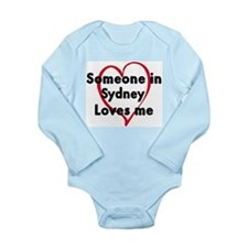 Cute Someone san diego loves me Long Sleeve Infant Bodysuit