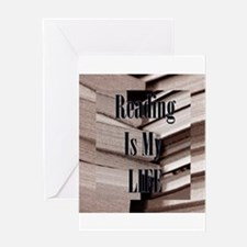 Reading Is My Life Greeting Cards