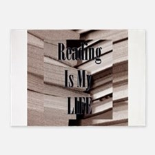 Reading Is My Life 5'x7'Area Rug