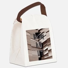 Reading Is My Life Canvas Lunch Bag