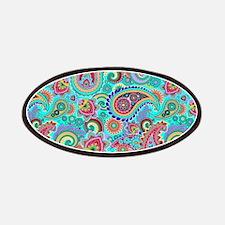 Retro Colorful Vintage Paisley Pattern Patch