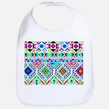Colorful Tribal Geometric Pattern Bib