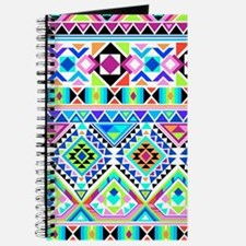 Colorful Tribal Geometric Pattern Journal