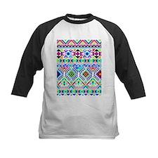 Colorful Tribal Geometric Pattern Baseball Jersey