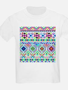Colorful Tribal Geometric Pattern T-Shirt