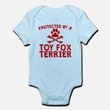 Protected By A Toy Fox Terrier Body Suit