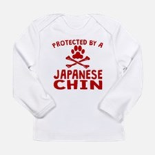 Protected By A Japanese Chin Long Sleeve T-Shirt