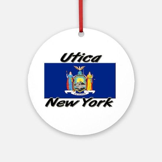 Utica New York Ornament (Round)