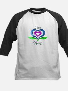 I Love Yoga Hearts Kids Baseball Jersey