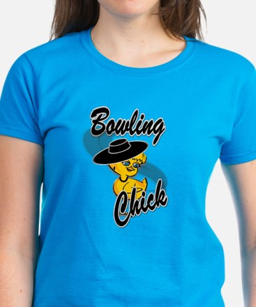 Bowling Chick #4 Women's Dark T-Shirt