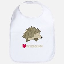 I Love My Hedgehog Bib