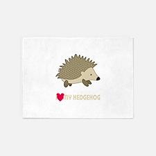 I Love My Hedgehog 5'x7'Area Rug