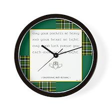 MAY YOUR POCKETS BE... Wall Clock