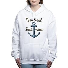 Cute Naughty and nice Women's Hooded Sweatshirt