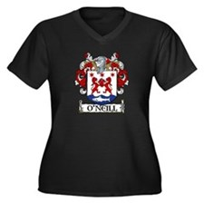 O'Neill Coat of Arms Women's Plus Size V-Neck Dark
