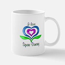I Love Square Dancing Hearts Mug