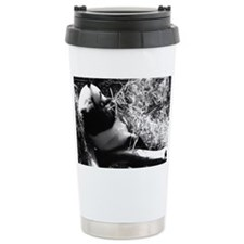 Panda having lunch. Travel Mug