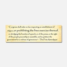 The First Amendment Car Magnet 10 X 3