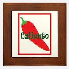 Caliente Red Hot Chili Pepper Framed Tile